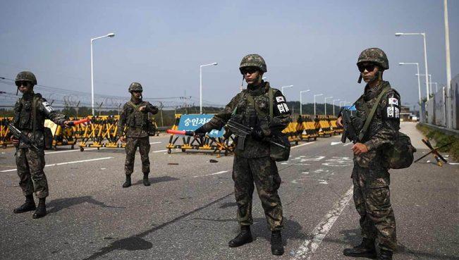 Южная Корея открыла огонь на границе с КНДР