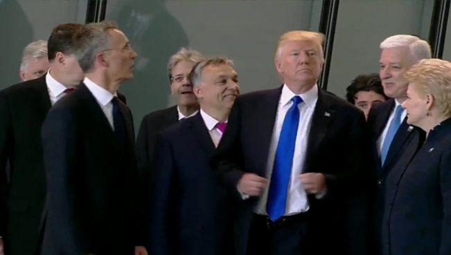 НАТОвская дедовщина: Трам реально унижает лидеров Европы — ВИДЕО