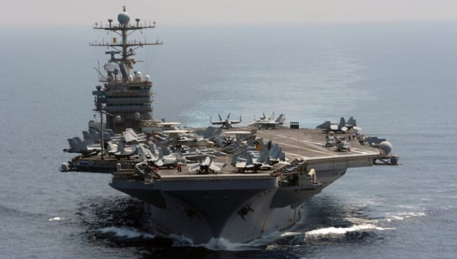 Третья ударная авианосная группа ВМС США направлена к берегам КНДР