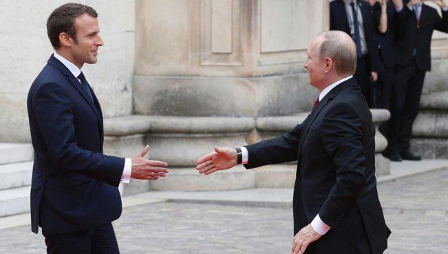 Политолог: «Путин отправилсяво Францию, чтобы убедить Макрона выстроить иные силы против США»