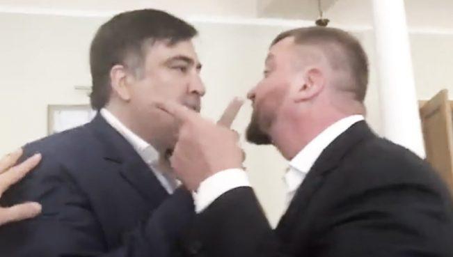 Саакашвили устроил истерику в министерстве юстиции — ВИДЕО