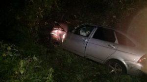 Пострадал водитель автомобиля, который перекинулся в кювет в Мордовии (ФОТО)