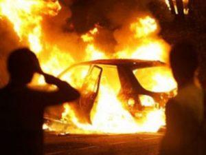 В Рязани минувшей ночью горел автомобиль
