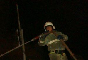 Огонь полностью уничтожил домовладение в Клепиковском районе