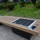 Скамейку для зарядки смартфонов установили перед администрацией в Сочи в преддверии ЧМ по футболу