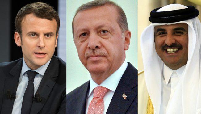 Состоялась видеоконференция между Эрдоганом, Макроном и Аль-Тани