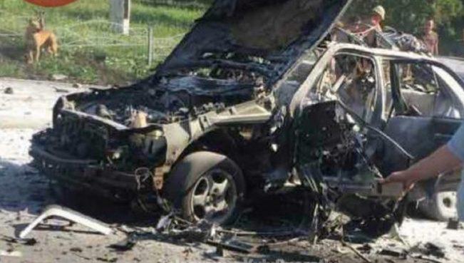 В Киеве взорвался автомобиль, погиб военнослужащий ВСУ — ВИДЕО
