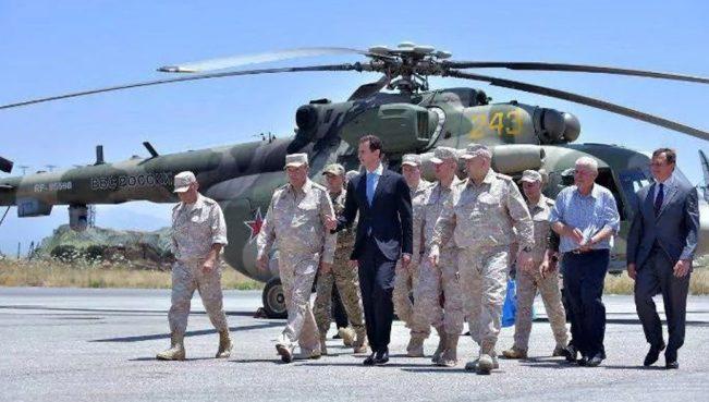 Башар Асад посетил российскую авиабазу «Хмеймим» — Фото