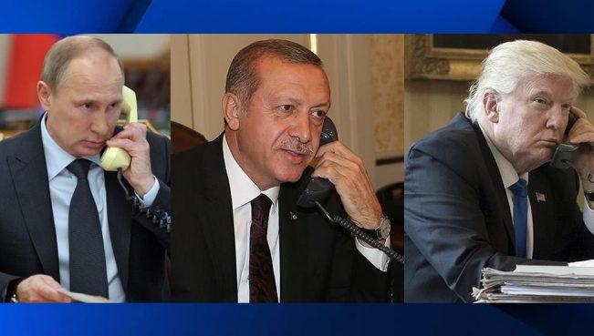 Состоялся телефонный разговор Эрдогана с Трампом и Путиным