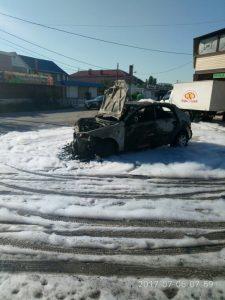Под Севастополем в результате аварии полностью за несколько минут сгорела иномарка (ФОТО)