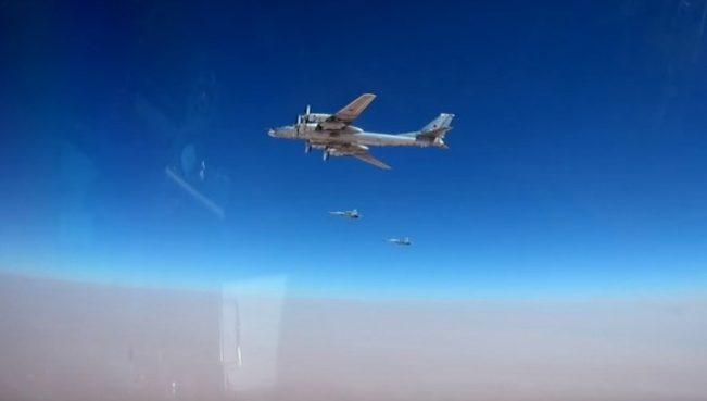 Российские Ту-95МС нанесли удар по объектам террористов в Сирии — ВИДЕО