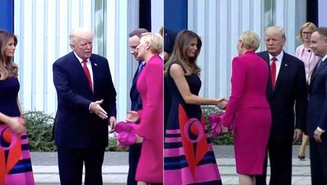 Трамп снова попал в неловкую ситуацию с рукопожатием — ВИДЕО