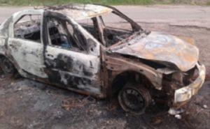 В Рузаевке сгорела иномарка (ФОТО)