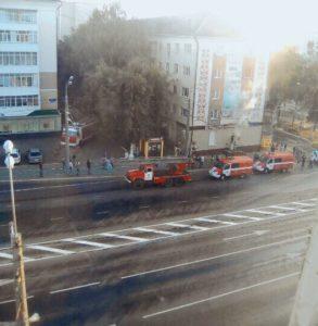 В центре Саранска горят подвальные помещения (ФОТО)