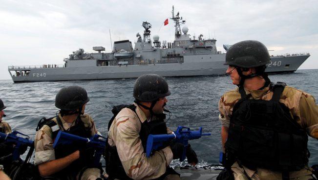 Фрегат турецкого флота «Гёкова» прибыл в Катар