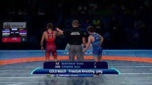 Азербайджанский борец победил армянина и стал чемпионом мира