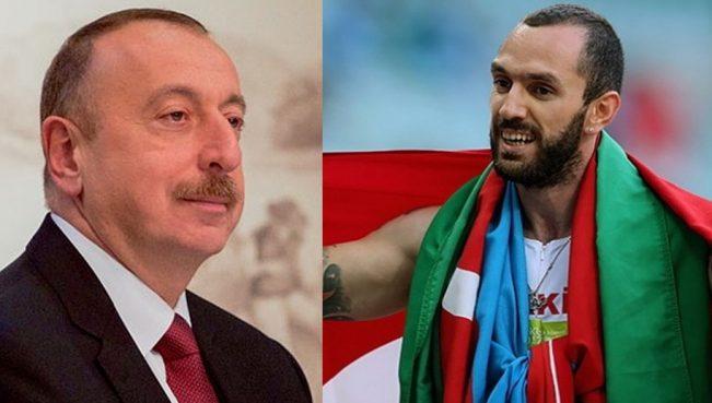 Ильхам Алиев поздравил азербайджанца, вошедшего в историю