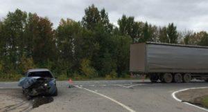 Нетрезвая автоледи протаранила фуру на трассе М7 в Чувашии