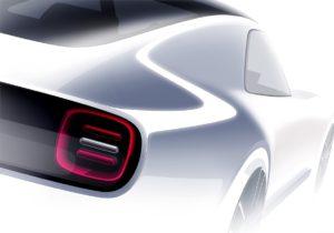 Появилось первое изображение нового спорткара Honda Sports EV
