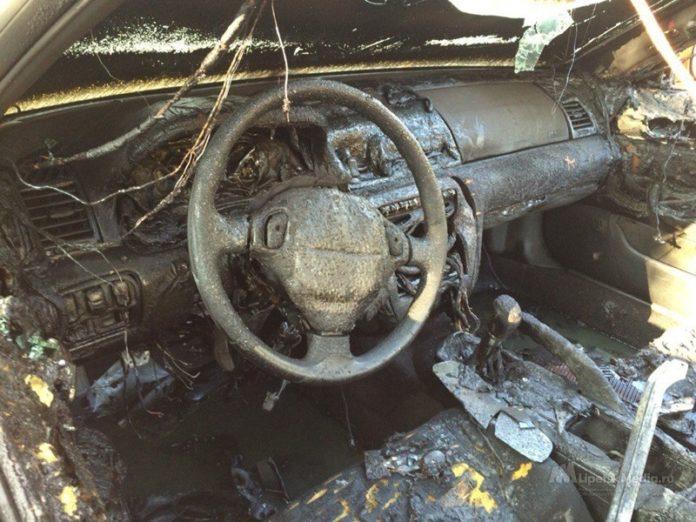 Под Липецком в машине нашли обугленный труп