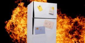 В Липецке в одной из квартир загорелся холодильник