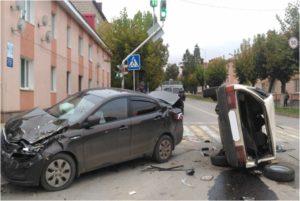 При столкновении «легковушек» в Лениногорске пострадала женщина