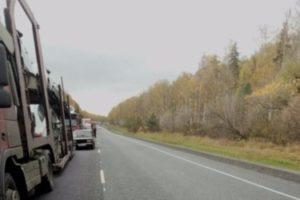 В Рязанской области на трассе образовалась крупная пробка из-за ремонта дороги