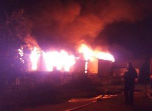 В Рыбном Рязанской области сгорел жилой дом: фото