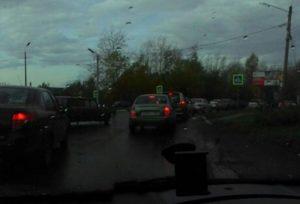 В Рязани из-за ремонта Куйбышевского шоссе образовалась транспортная пробка