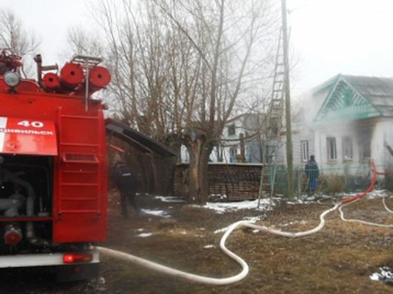 Жилой дом и сарай горели в Рязанской области