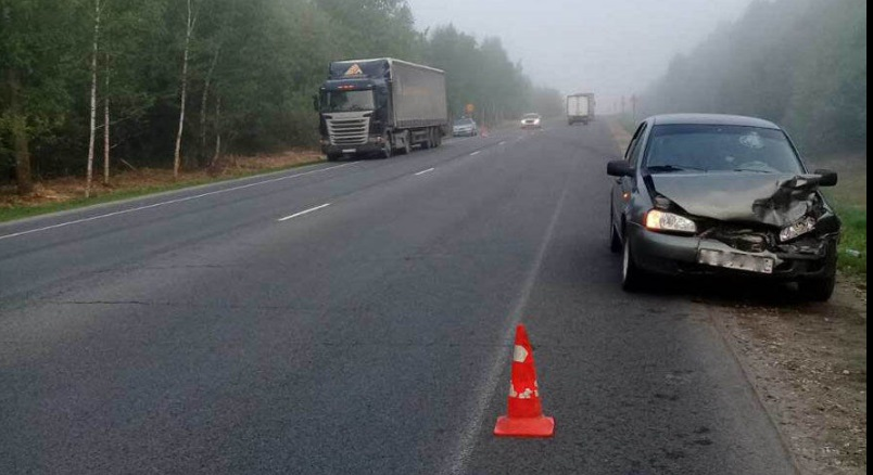 В Путятинском районе «Лада» врезалась в грузовик Scania