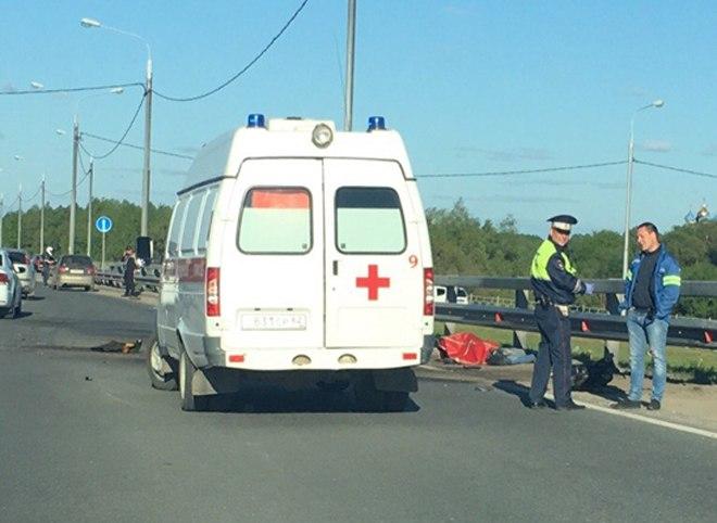 Мотоциклист разбился насмерть в Рязани на Северной окружной