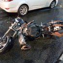 В Рязани мотоциклист на Suzuki без прав врезался в Hyundai