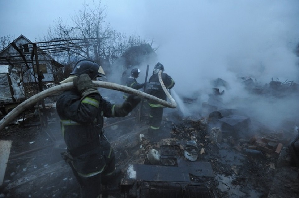 Трое мужчин погибли сегодня при пожаре в Чувашии
