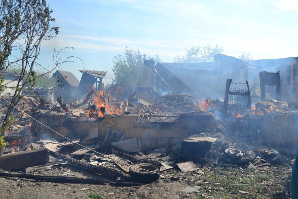 В Старожиловском районе сгорел жилой дом, пострадали два человека