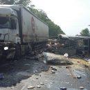 Жуткое ДТП в Шацком районе: столкнулись два грузовика и «ГАЗель»